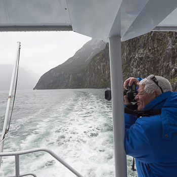 Shooting Milford Sound, New Zealand